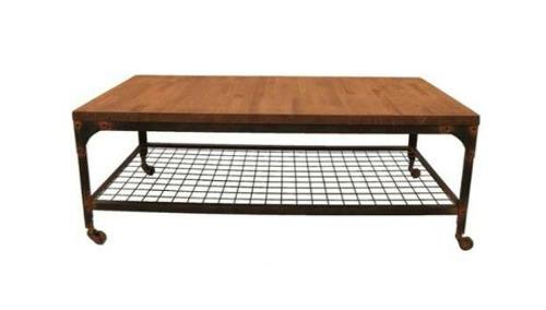 Mesas con mucho encanto 13 ideas para combinar hierro y - Mesas para ordenador con ruedas ...