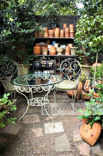Disfrutando con mis muebles de jard n forja hispalense blog - Muebles de forja para jardin ...