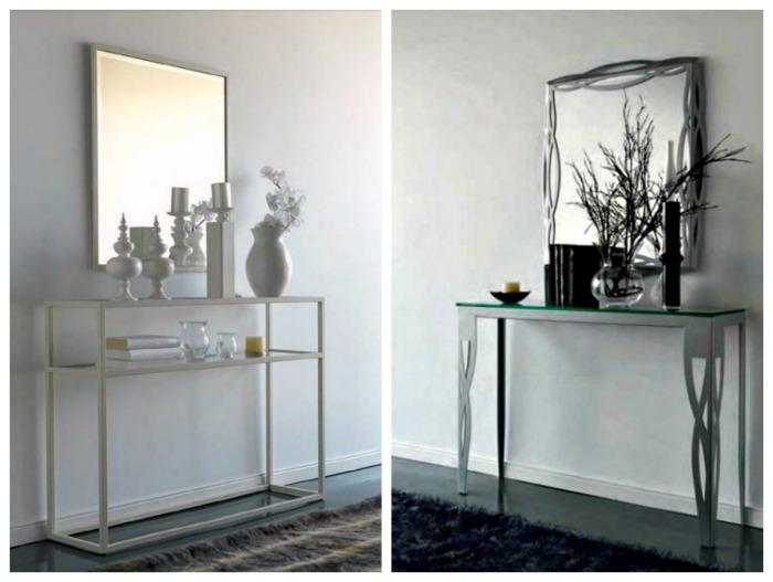 Mesas de recibidor modernas recibidores de forja diseo modernos artesanal muebles de forja - Consolas modernas para recibidor ...