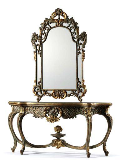 espejo recibidor de forja