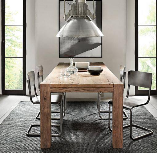 Mesas r sticas para decorar tu sal n forja hispalense blog - Mesa comedor madera rustica ...