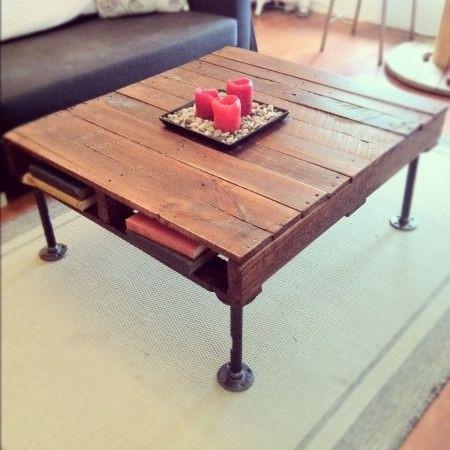 Mesas con mucho encanto 13 ideas para combinar hierro y for Patas de hierro para mesas