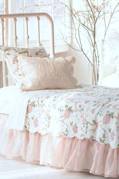 cama de forja rosa
