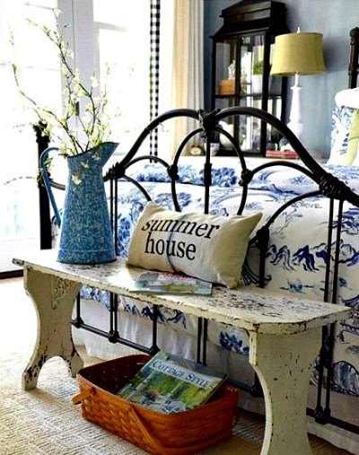 Cabecero de cama rustico