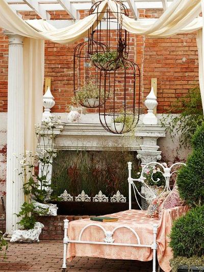 Muebles de jard n de forja para patios r sticos - Muebles de patio ...