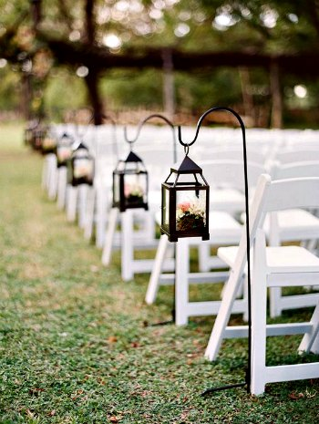 faroles de forja para decorar una boda - forja hispalense blog