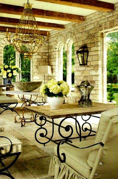 L mparas de forja para patios r sticos forja hispalense blog - Azulejos rusticos para patios ...