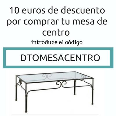 mesa de centro de forja
