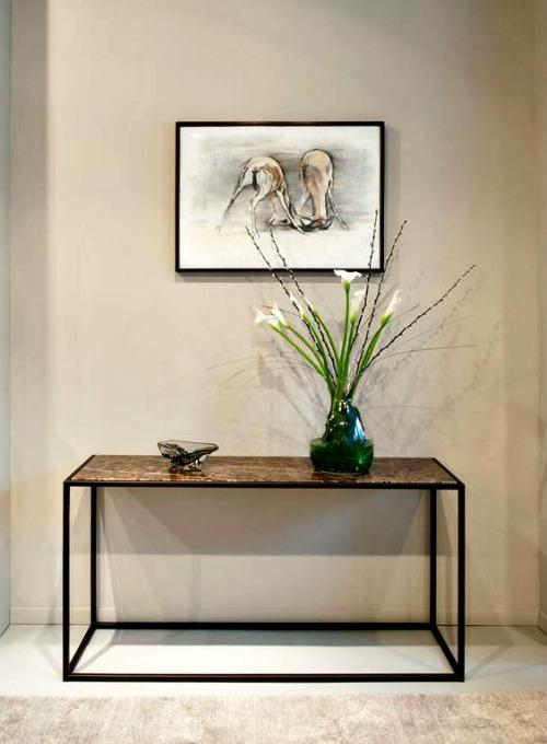 Muebles de entrada y muebles de recibidores modernos for Muebles estilo industrial