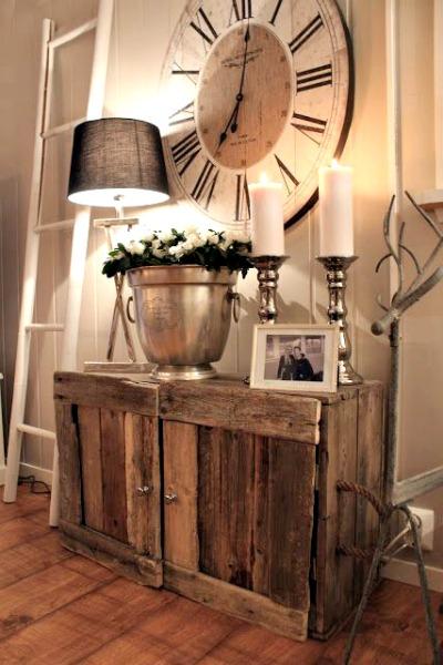 muebles de entrada de madera