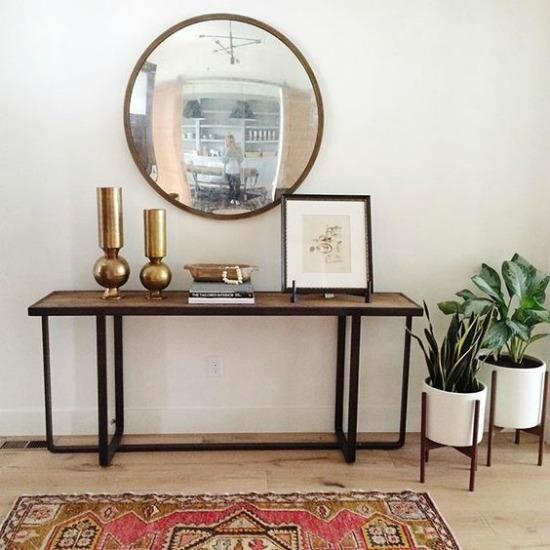 Muebles de entrada y muebles de recibidores modernos for Muebles de forja para jardin