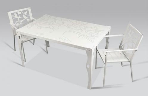 mesas de forja para jardin