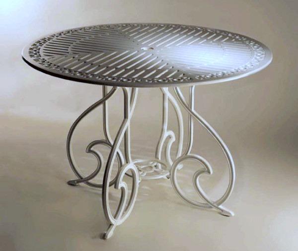 mesa de aluminio fundido