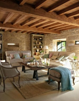 C mo decorar salones r sticos forja hispalense - Decorar salones rusticos ...