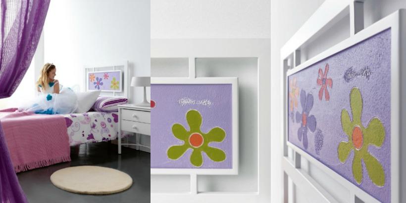 6 ideas de cabeceros cama originales matrimonio juvenil - Cabeceros de forja infantiles ...