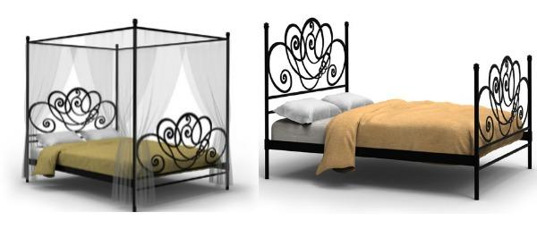 6 ideas de cabeceros cama originales matrimonio juvenil for Cama de forja blanca
