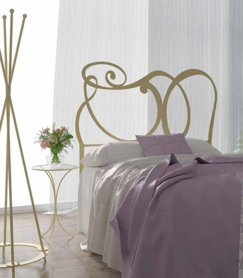 6 ideas de cabeceros cama originales matrimonio juvenil - Cabeceros forja modernos ...