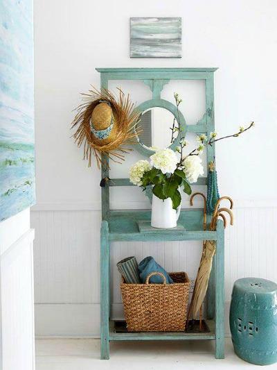 C mo usar muebles de recibidor vintage forja blog for Mueble estrecho cocina