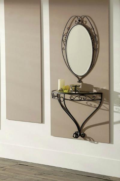 Recibidores modernos peque os decoraci n y usos forja - Adornos de pared de forja ...