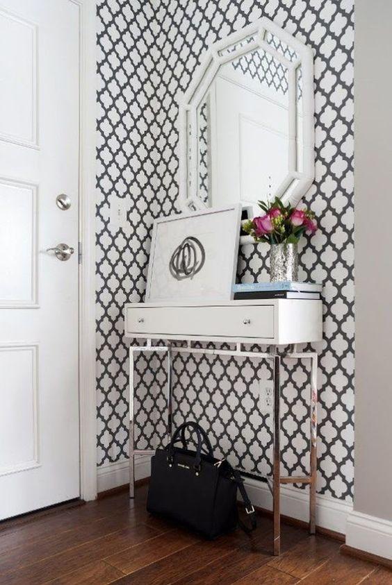 Muebles de recibidor estilo clásico