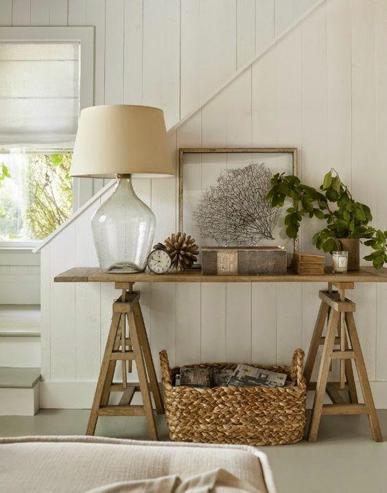 Muebles entrada estilo rústico