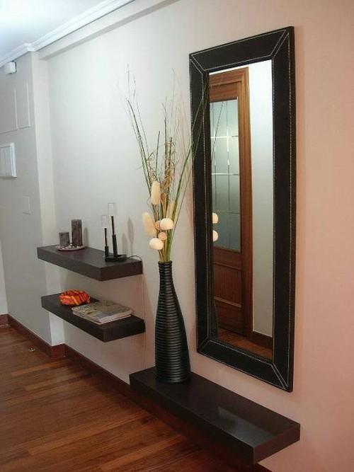 Recibidores modernos con espejos de recibidor en forja for Espejos decorativos para pasillos