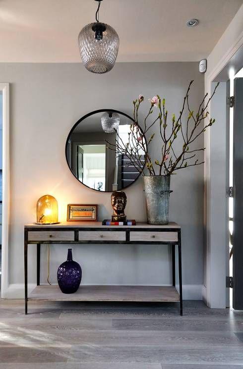 C mo decorar un recibidor moderno grande y peque o forja hispalense - Como decorar un recibidor moderno ...