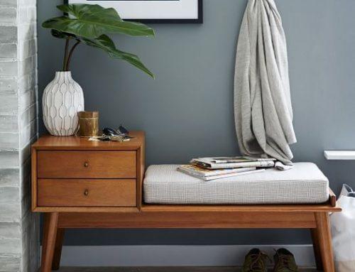 Mesas con mucho encanto 13 ideas para combinar hierro y - Muebles recibidor vintage ...