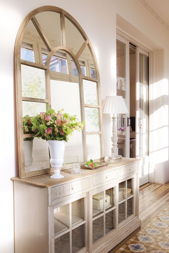 Top muebles recibidor estilo vintage forja hispalense blog for Decoracion espejos entrada casa