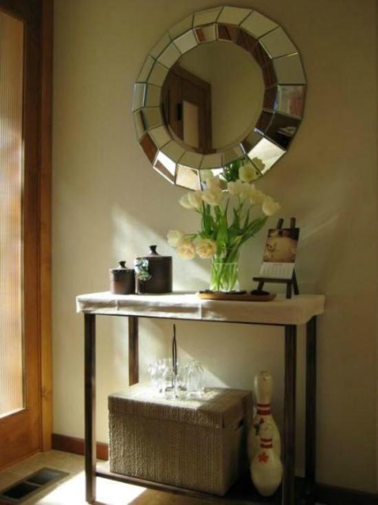Buscas consola y espejo para recibidor top ideas for Espejos redondos para decoracion
