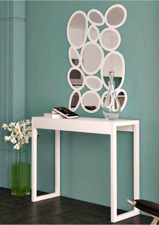 Mesas con mucho encanto 13 ideas para combinar hierro y for Compra de espejos