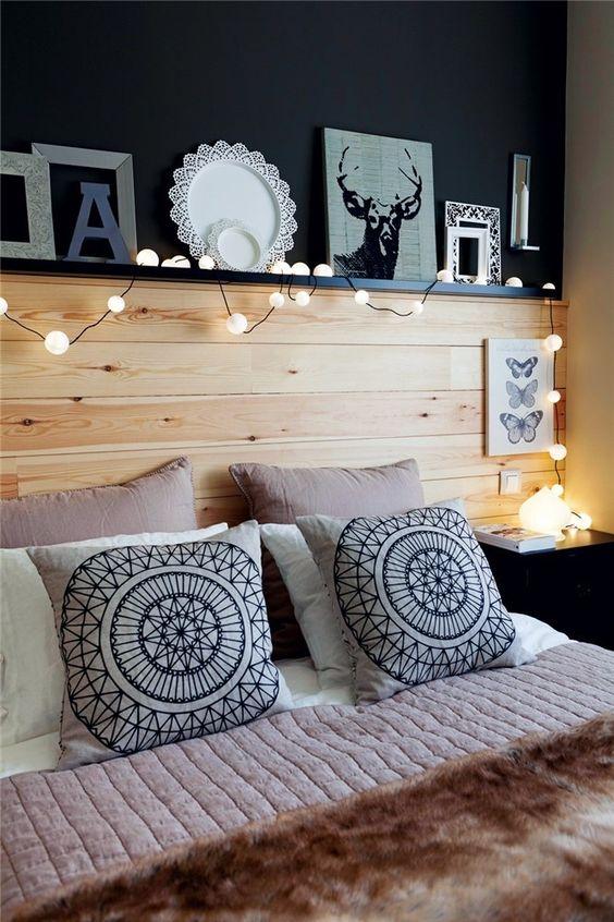 Cabeceros originales c mo decorar una cama matrimonio - Forrar cabecero de cama ...