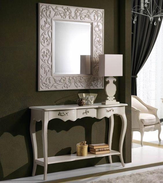 Muebles de recibidor vintage consolas y espejos forja - Muebles para entradas y recibidores ...