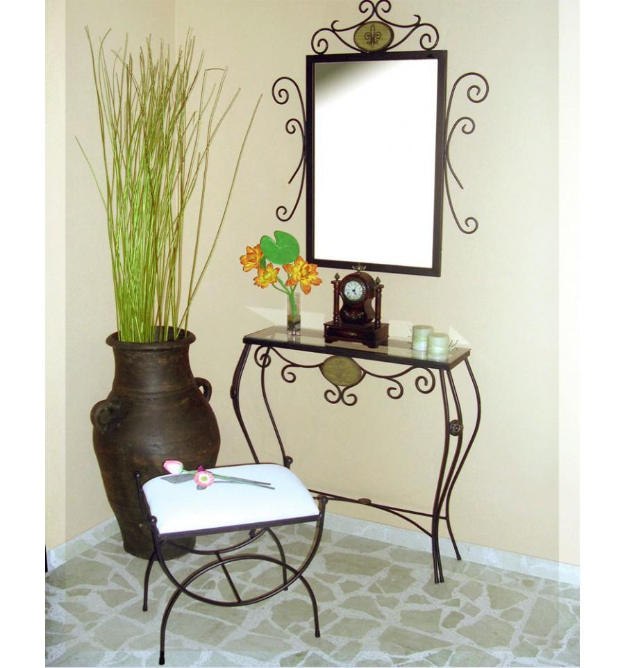 Ideas para muebles recibidor decora con consolas espejos for Decoracion con espejos en paredes