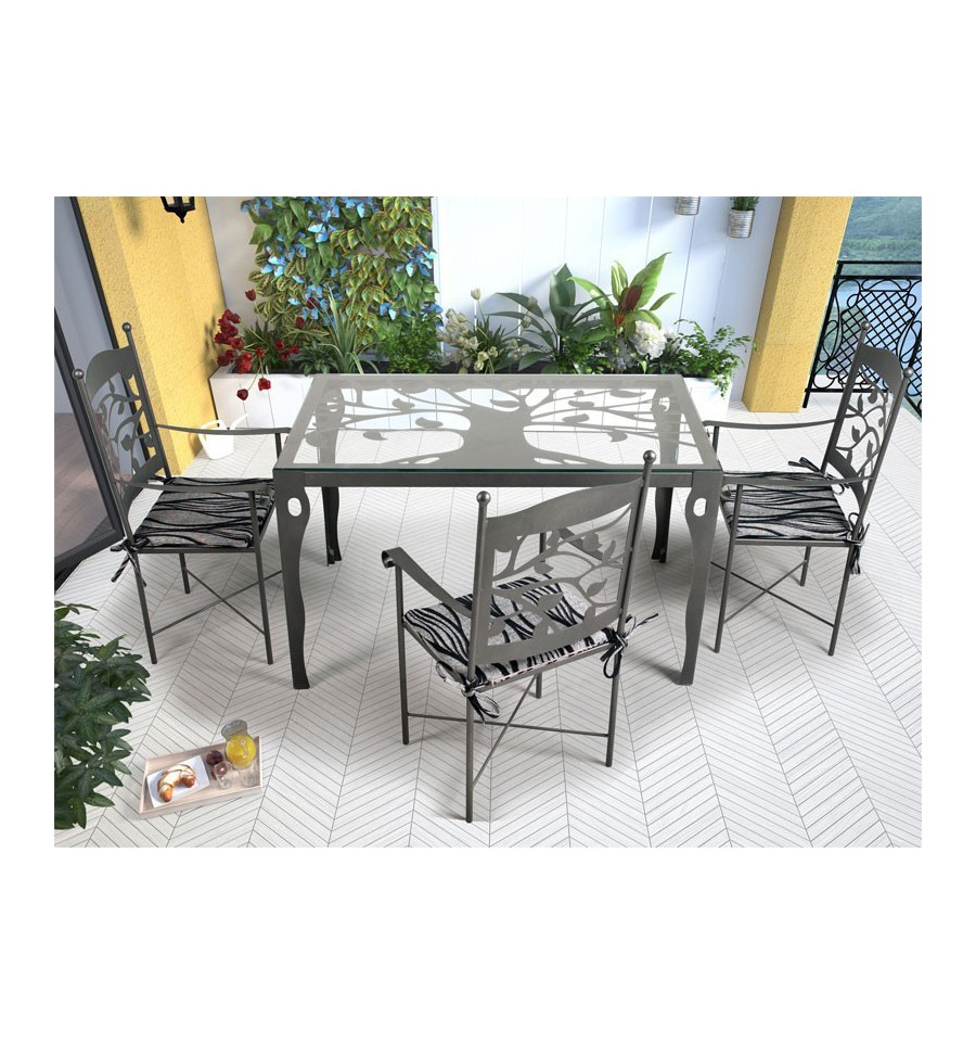 La forja en los muebles de terraza elegancia y el mejor - Muebles herencia ...