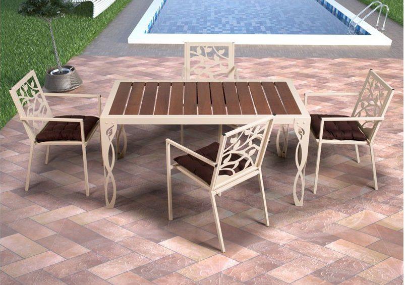 mesas de forja para jardin - mesa de jardín Cádiz