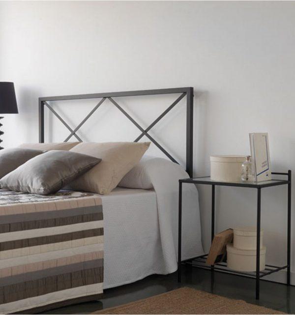 renovar dormitorio - Cabecero de forja Rombo